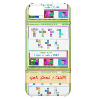 GEEK Street 7 CUBE Kids Paper Craft Lessons iPhone 5C Covers