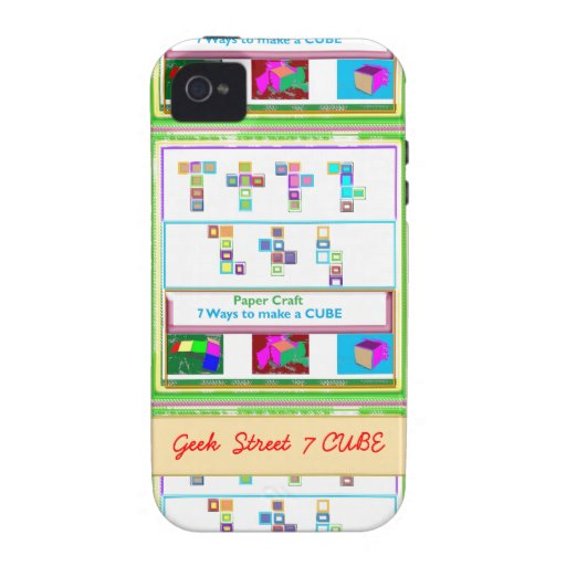 GEEK Street  7 CUBE : Kids Paper Craft Lessons Vibe iPhone 4 Cover