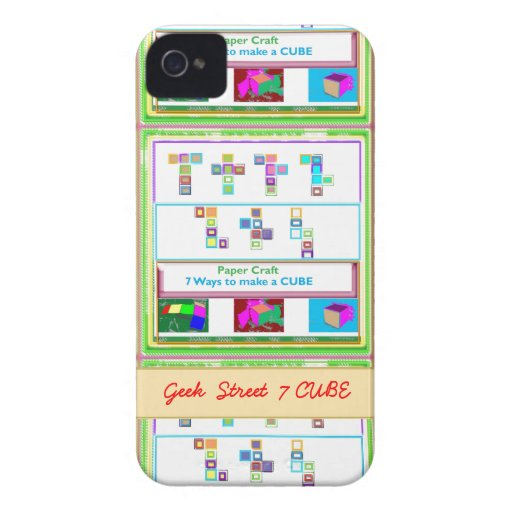 GEEK Street  7 CUBE : Kids Paper Craft Lessons iPhone 4 Case