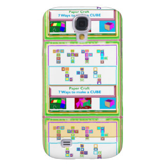 GEEK Street  7 CUBE : Kids Paper Craft Lessons Galaxy S4 Case