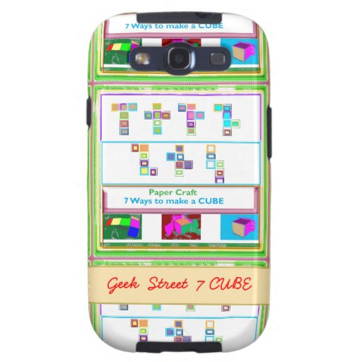 GEEK Street  7 CUBE : Kids Paper Craft Lessons Galaxy SIII Covers
