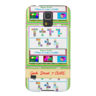 GEEK Street  7 CUBE : Kids Paper Craft Lessons Cases For Galaxy S5