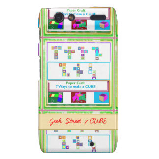 GEEK Street 7 CUBE Kids Paper Craft Lessons Droid RAZR Covers