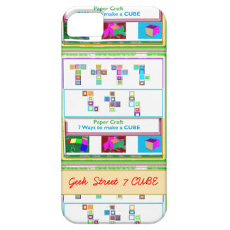 GEEK Street  7 CUBE : Kids Paper Craft Lessons iPhone 5 Cases