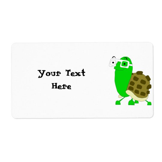 Geek Turtle Label Template
