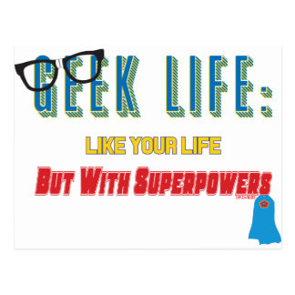 Geek With Superpowers Postcard