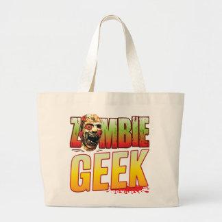 Geek Zombie Head Tote Bags