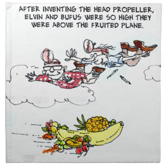 Geeks Above Fruited Plane Funny Cloth Napkin