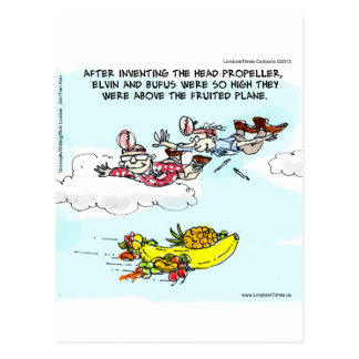 Geeks Above Fruited Plane Funny Postcard