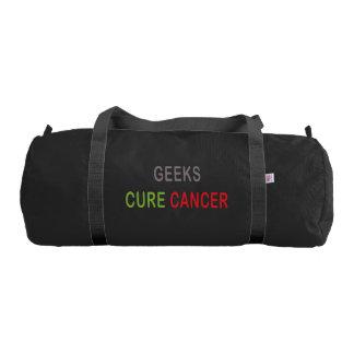 Geeks Cure Cancer Gym Bag Gym Duffel Bag