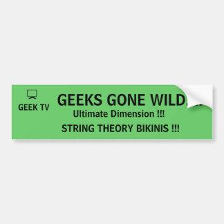 Geeks Gone Wild! - a GEEK TV bumper sticker Car Bumper Sticker