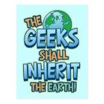 Geeks Inherit Earth Post Card