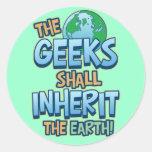 Geeks Inherit Earth Stickers