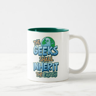 Geeks Inherit Earth Two-Tone Coffee Mug