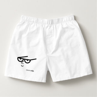 """Geeks Rule"" Funny-looking Face with Eyeglasses Boxers"