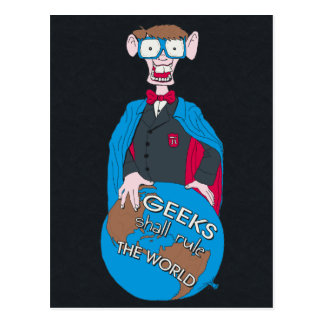 Geeks Shall Rule The World Postcard