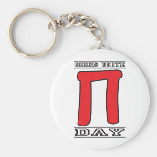 Geeks Unite Pi Day Key Ring