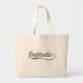 Geektastic in Grey Large Tote Bag