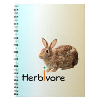 Geeky Adorable Vegan Wild Bunny Rabbit Blue Spiral Notebooks