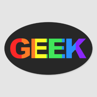 Geeky and Queer As. Oval Sticker