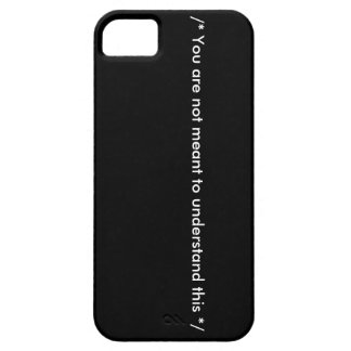 Geeky black iPhone case Barely There iPhone 5 Case