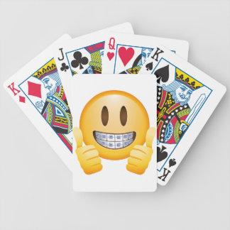 Geeky Braces Emoji Bicycle Playing Cards
