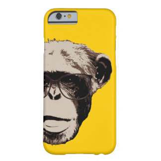 Geeky Chimp in Glasses Yellow iPhone 6 case Barely There iPhone 6 Case