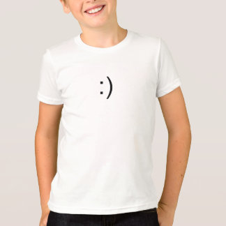 Geeky Computer Smile Face T-Shirt