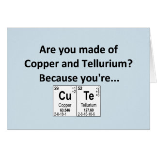 Geeky element valentine/ anniversary card
