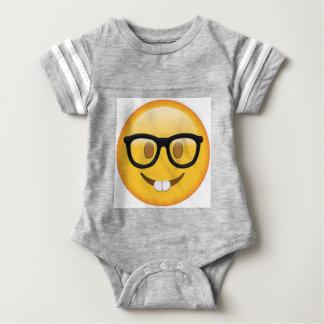 Geeky Emoji Smiley Face Baby Bodysuit