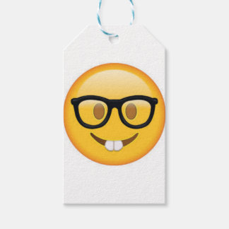 Geeky Emoji Smiley Face Gift Tags
