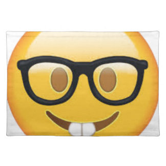 Geeky Emoji Smiley Face Placemat