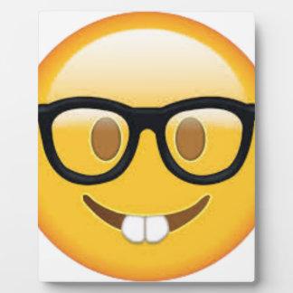 Geeky Emoji Smiley Face Plaque