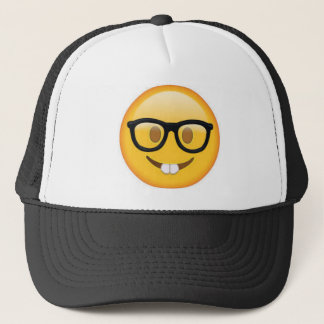 Geeky Emoji Smiley Face Trucker Hat