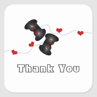 Geeky Gamers Thank You Stickers (Dark)