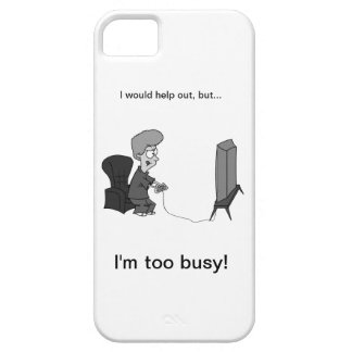 "Geeky Gaming ""I'm too busy!"" iPhone 5 Case"