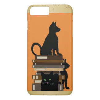 Geeky Gifts Funny Cute Cats and Books iPhone 7 Plus Case