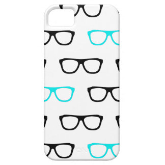 geeky glasses blue barely there iPhone 5 case