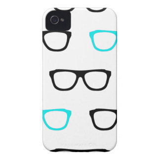 geeky glasses blue geek Case-Mate iPhone 4 cases