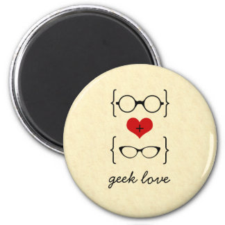 Geeky Glasses Magnet