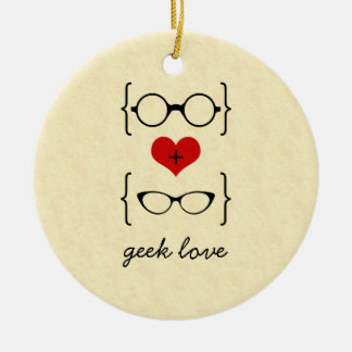 Geeky Glasses Ornament