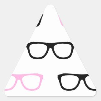 geeky glasses pink geek triangle sticker