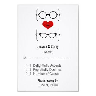 Geeky Glasses Response Card 9 Cm X 13 Cm Invitation Card