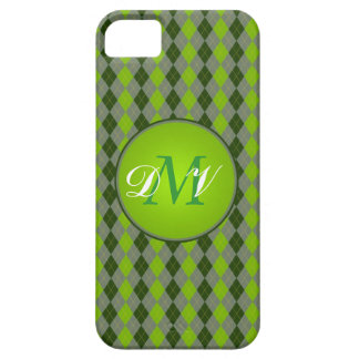Geeky Green Plaid iPhone 5 Covers