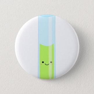 Geeky kawaii test tube 6 cm round badge