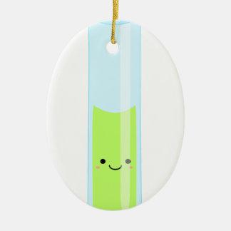 Geeky kawaii test tube ceramic oval decoration