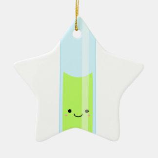 Geeky kawaii test tube ceramic star decoration