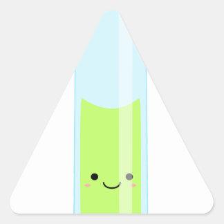 Geeky kawaii test tube triangle sticker