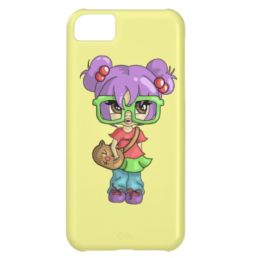 Geeky Kitty iPhone 5C Case