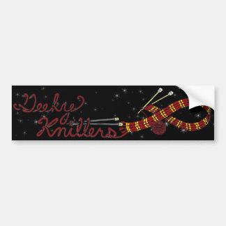 Geeky Knitters Red Bumper Sticker